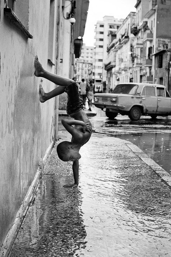 Cuba, La Habana, 2011. I've been told to keep my feet away from water, so as not to get cold...