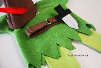Tutorial for Anderson's Peter pan Halloween costume. Addilyn will be tinkerbell ;)