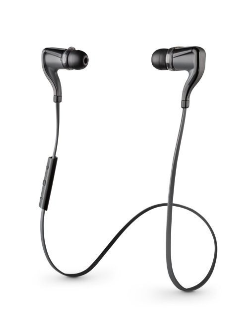 BackBeat GO 2 wireless bluetooth headphones from Plantronics. 4½ hour battery life (without the optional charging case which provides up to 14½ hours in total). Moisture repellent.: