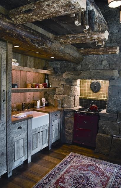 Tiny Home Designs: Beautiful Rustic Cabin Kitchen - Cutthroat Cabin