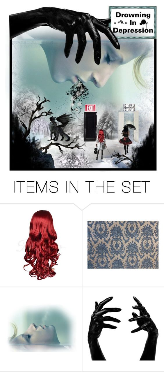 """Bringing Awareness: Depression + (see description)"" by angie-in-reverie ❤ liked on Polyvore featuring art"