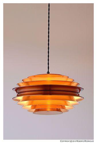 Danish Mid Century Retro Vintage THORE 50's 60's 70's Light Lamp | eBay