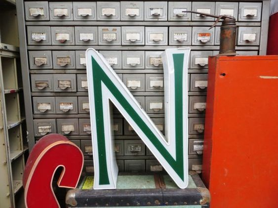 Vintage Marquee Sign Letter Capital N Large Green Etsy Vintage Marquee Vintage Marquee Sign Marquee Sign Letters