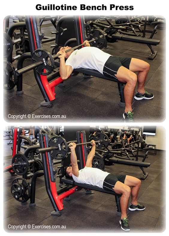 Ordinary Guillotine Bench Press Part - 9: Guillotine Press Is A Variation Of The Bench Press Which Specifically  Targets The Upper Chest With Secondary Emphasis On The Front Shoulders. The  U2026
