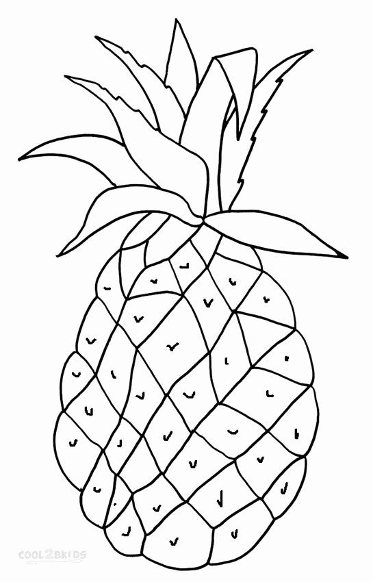 Cute Pineapple Coloring Page Inspirational Printable Pineapple Coloring Pages For Kids In 2020 Fruit Coloring Pages Coloring Pages For Kids Pokemon Coloring Pages