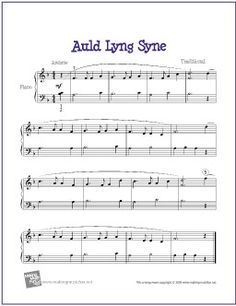 New Year free piano sheet music - Google Search