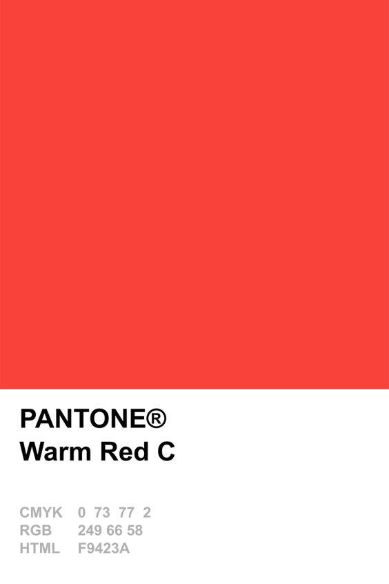 pantone warm red c pantone colour recipes pinterest