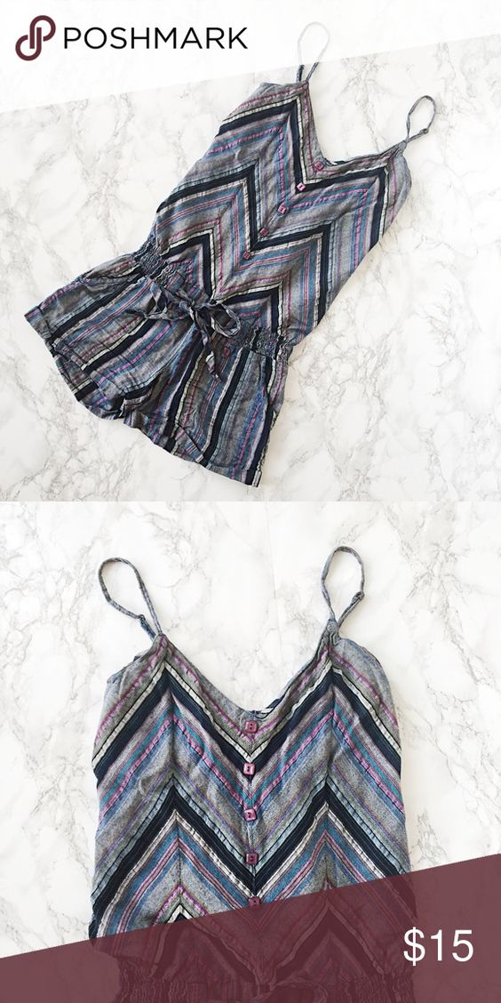 Billabong Romper Gently used Billabong romper. Striped pattern, tie at waist. ★ measurements available upon request ★ reasonable offers considered ★ no trades Billabong Pants Jumpsuits & Rompers