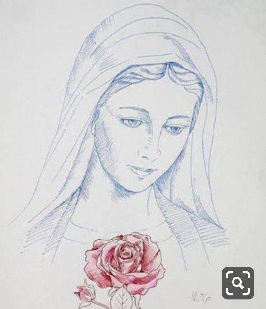 Pin De Eliane Medeiros En Arte Popular Arte Virgen Maria Virgen Maria Dibujo Arte De Jesus