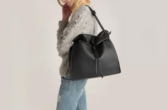 Love the slouchy simplicity of this large tote