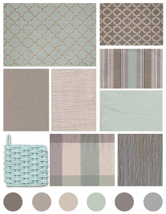 Color pattern and texture inspiration grey beige and aqua cottage style color boards for Cottage living room colour schemes