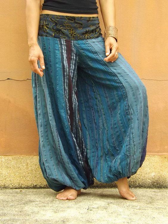 Aladdin Pants ...Yoga Pants ..Dance Pants ...Indian Stone by Ablaa, $33.00