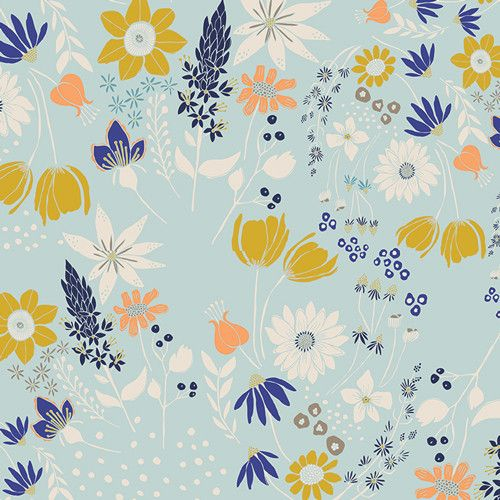 From the 'Gramercy' collection by Leah Duncan for Art Gallery fabrics. Sold by the fat quarter metre, which measures 50cm x 56cm. If one is ordered, it will be
