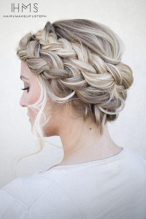 oneonone class updo crown braids and double dutch braid