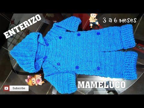 Mameluco Enterizo O Enterito Tejido A Crochet Para Bebé De 0 A 6 Meses Paso A Paso In 2020 Arm Warmers Crochet Fingerless