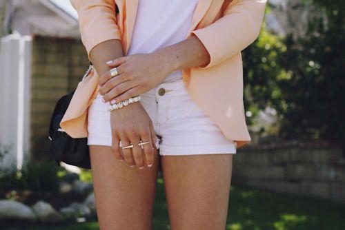 love the peach blazer