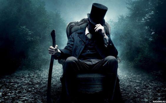 Линкольн сидит в кресле с топором - картинки, фото, аватары