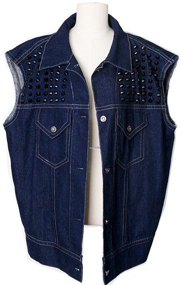 Denim Vest  | Fall & Winter | Dolly & Molly | www.dollymolly.com | #rocker #vest #studded #blue #fall #fashionstyle #instafashion #daily #mood #outer
