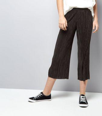 Black Pleated Culottes | New Look