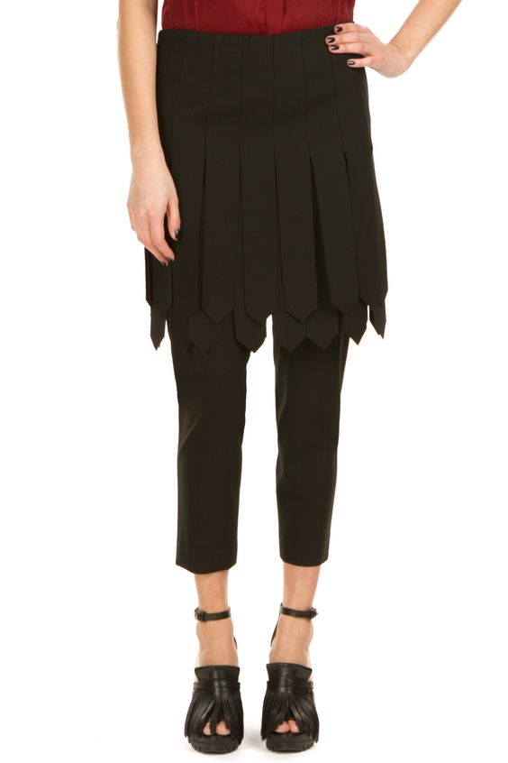 Hexa by Kuho fringed pants with skirt