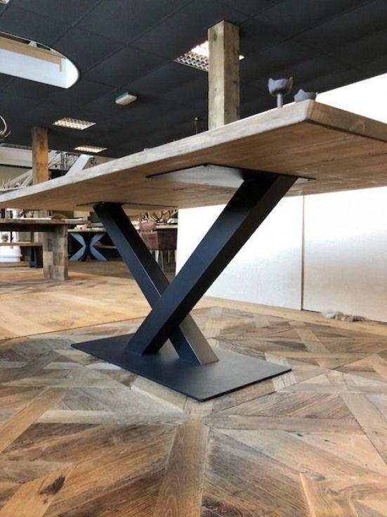 V Poot 370 Afmetingen 100 X 100 Mm Furnituredesigns Mesas De Comedor Industriales Mesas Madera Y Hierro Muebles Hierro Y Madera