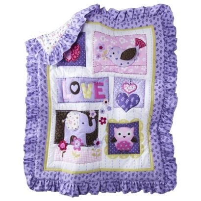 Circo® Love N' Lilacs 4pc Baby Girl Crib Bedding Set