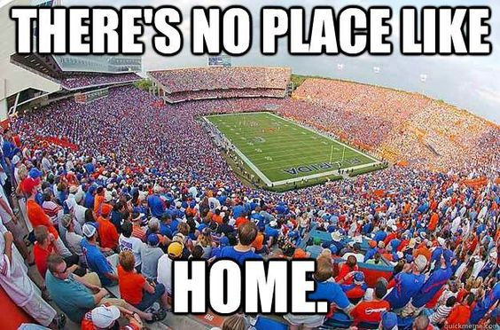 There's no place like home . . . Ain't that the truth! It's GREAT to be a Florida Gator! #GatorNation