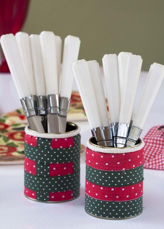 Porta-talheres artesanal / DIY, craft: