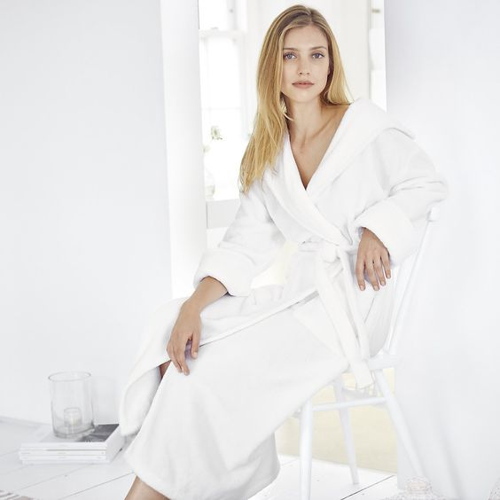 Hooded Hydrocotton Robe - White | The White Company