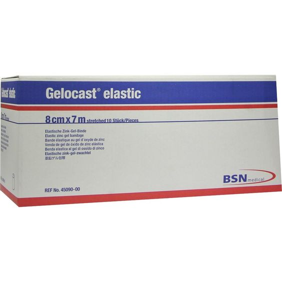GELOCAST elastic Binde 8 cmx7 m:   Packungsinhalt: 10 St Binden PZN: 00062521 Hersteller: BSN medical GmbH Preis: 120,12 EUR inkl. 19 %…