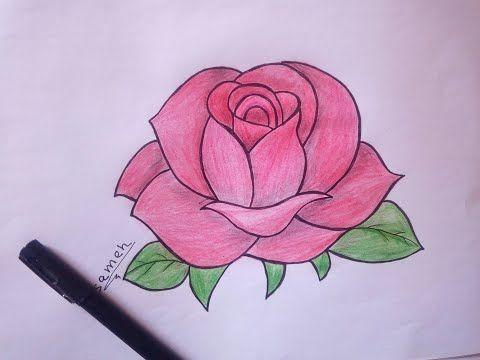 كيفية رسم وردة خطوة بخطوة للمبتدئين Youtube Lotus Flower Tattoo Flower Tattoo Drawings
