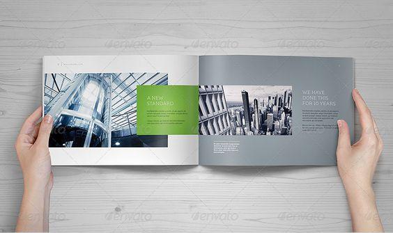 Landscape Brochure MockUp Set  Mockup And Brochures