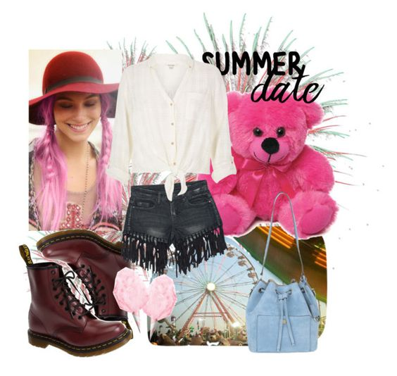 """summer date. state fair"" by domini-reyes ❤ liked on Polyvore featuring Dr. Martens, Sans Souci, River Island, Michael Kors, statefair and summerdate"