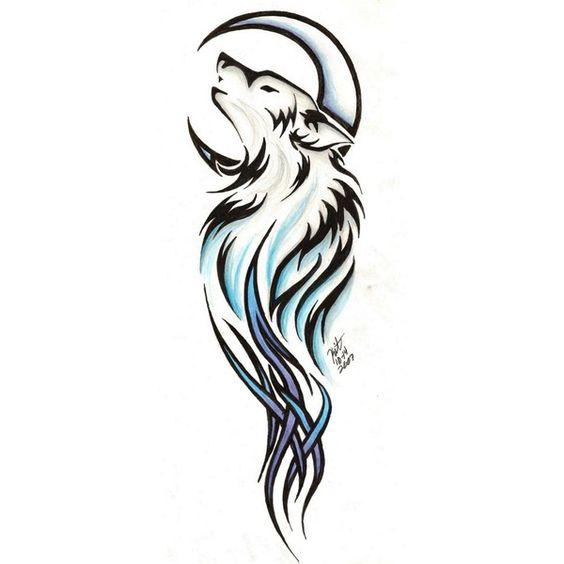 Tribal Wolf tattoo. Beautiful<3