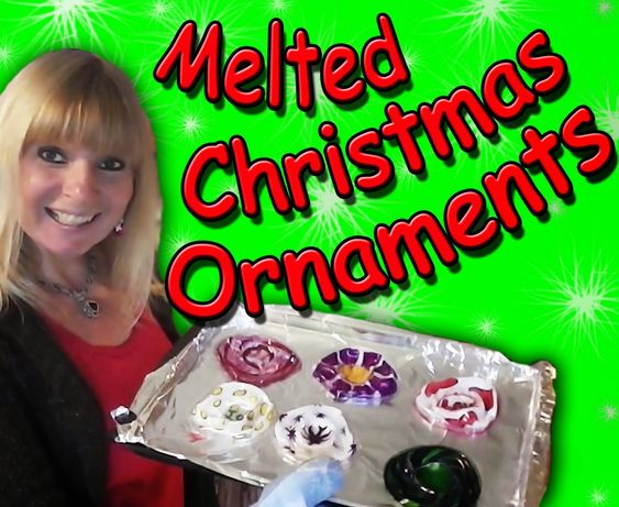 EasyMeWorld: How To Make Melted Christmas Ornaments