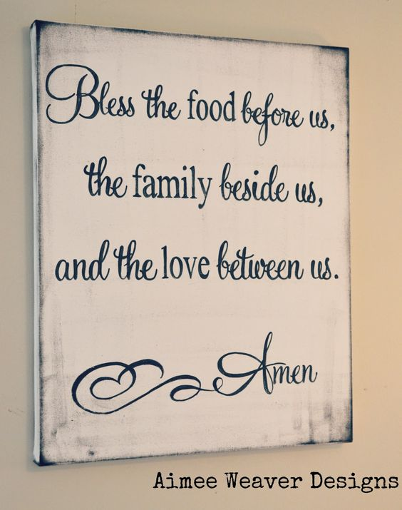 Wonderful site displaying meaningful signs for the home.  This one is perfect for the dinning room.