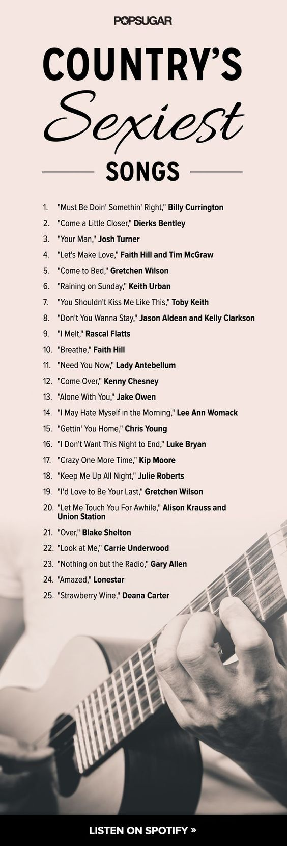 The sexiest country songs —good list