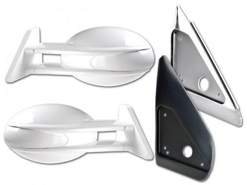 '.- Sport side mirrors .- sport look .- the set consists of two sports mirrors and two adapter plates .- without indicators .- Yr: 1994.-1998 .- Color: black .- E-Approved (approval free) .- Adjustment: Manual'