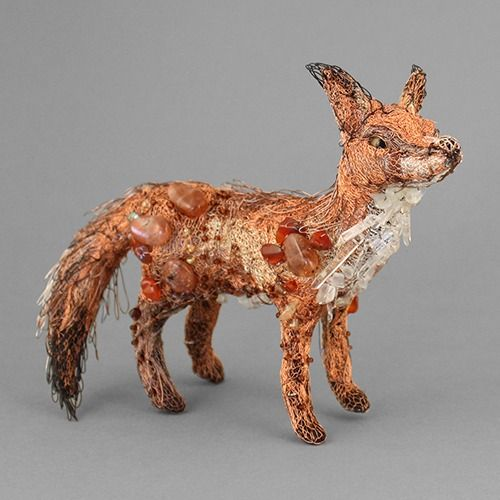 standing fox sculpture by susan horth £225.00