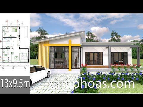 Plan 3d Interior Design House Plans 13x9 5m Full Plan 3beds House Description Car House Layout Plans Architectural Design House Plans Small House Design Plans
