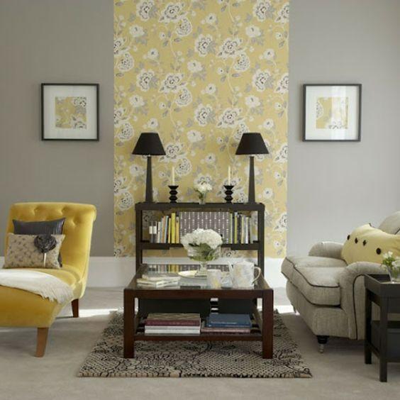 gelb-graues-Wohnzimmer-siebziger-Jahren-Stil