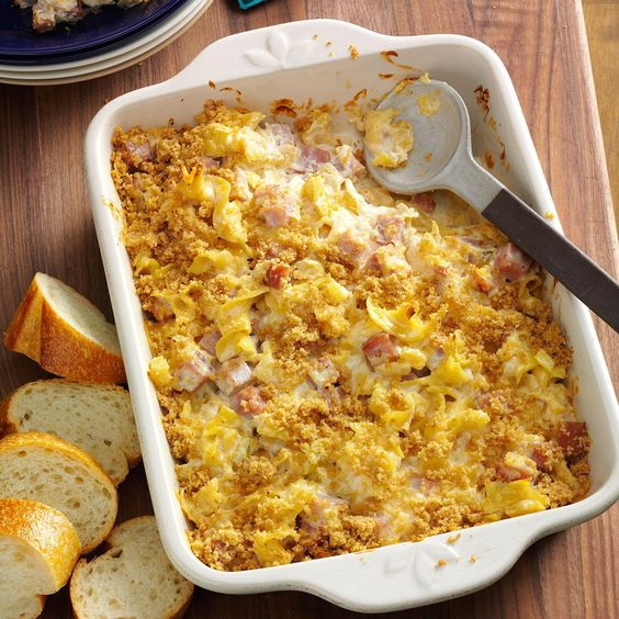 Pineapple Ham Casserole Recipe -Living in Hawaii, I wanted to share this recipe which features pineapple. It's our most important fruit crop. —Marsha Fleming, Kula, Hawaii