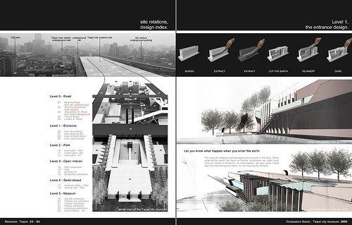 Architecture Design Layout architecture portfolio 53-54kai . l, via flickr | branding
