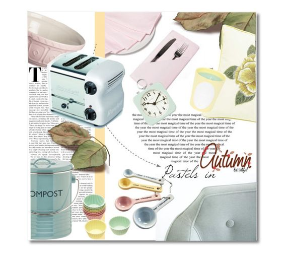 """""""Pastels in autumn"""" by nucasa ❤ liked on Polyvore featuring interior, interiors, interior design, home, home decor, interior decorating, Mason Cash, Typhoon, Acctim and Ladurée"""
