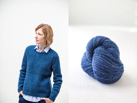 """Alvy modern gansey pullover by Jared Flood. Shown in color """"Almanac"""". From Brooklyn Tweed's """"Winter15"""" Collection. Photographed by Jared Flood. #btwinter15 #brooklyntweed #madeinUSA #shelteryarn #loftyarn #alvy #pullover"""