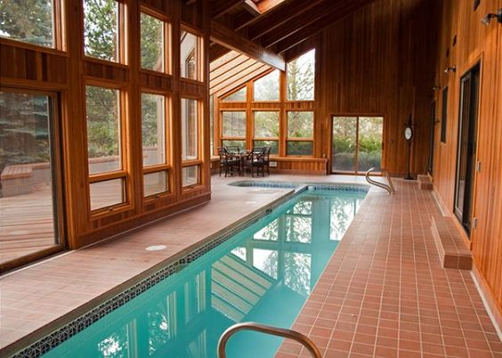 Indoor pools home and vacations on pinterest - Holiday homes with indoor swimming pool ...