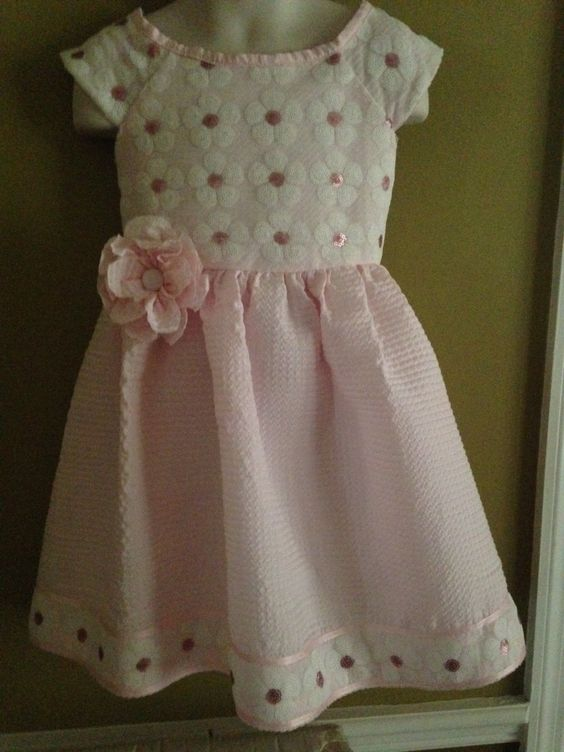 Little Girls Pink Elegant Dress by WitasCreations on Etsy