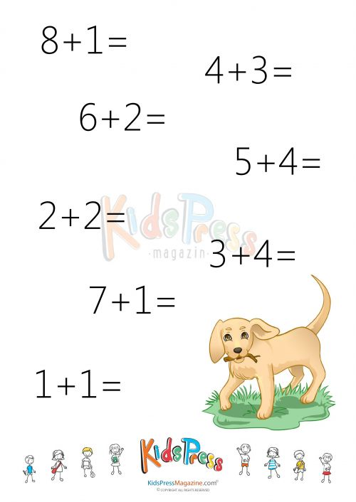 Addition Facts Worksheet Add to 10 2 – Foundation Stage Maths Worksheets