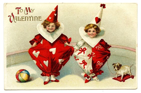 Clowns With Heart — Postcard