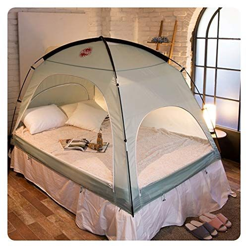 Floor Less Indoor Privacy Tent On Bed Blackout Keep Warm Play Tent Medium Double Full Queen Bed Mint For Product Price Info G Bed Tent Bed Tent Ikea Bed